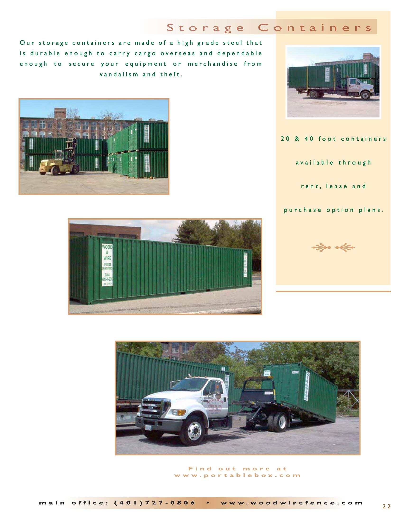 Ri Storage Containers Wood And Wire Fence Co Inc Rhode