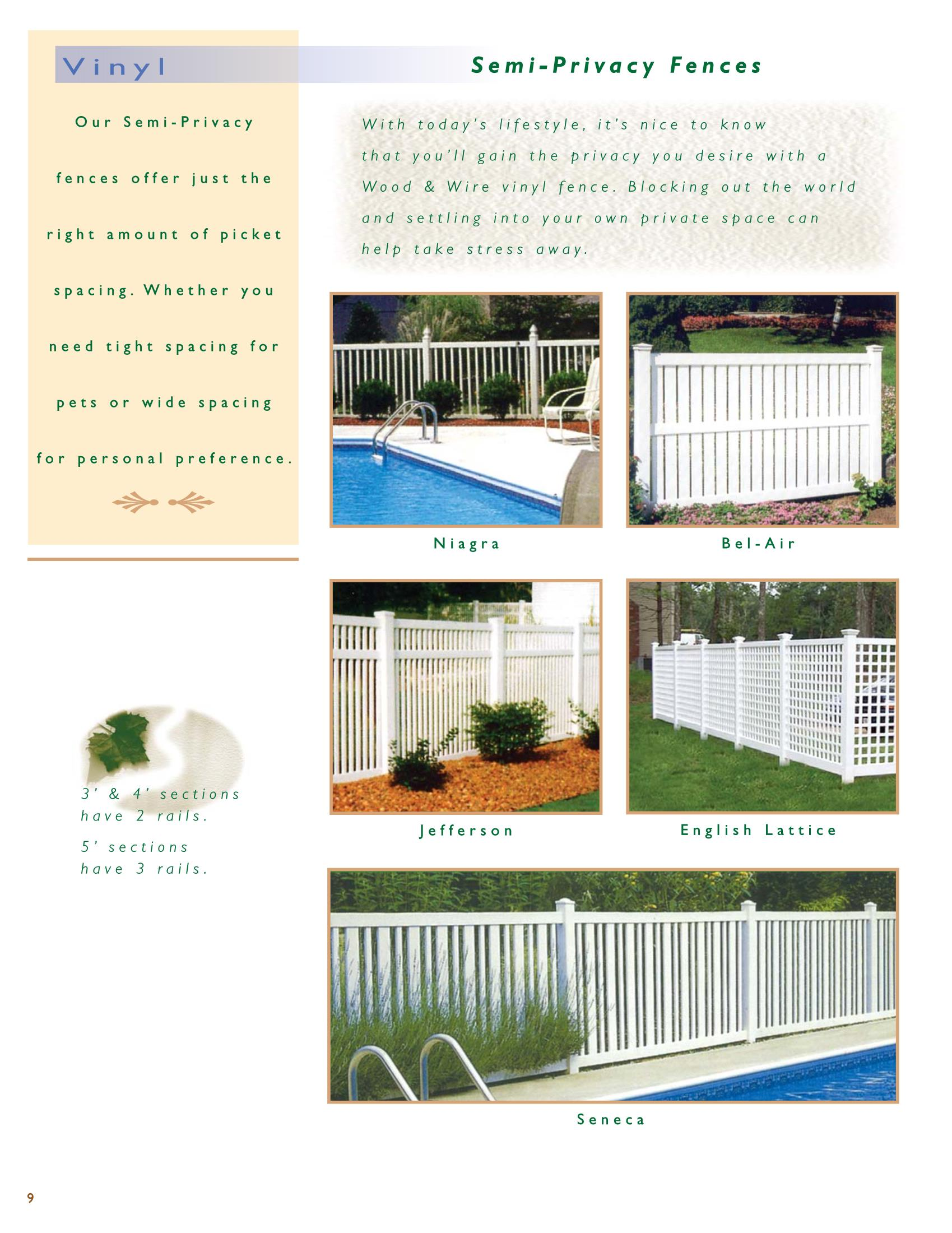 Ri Vinyl Privacy Fence Wood And Wire Fence Co Inc
