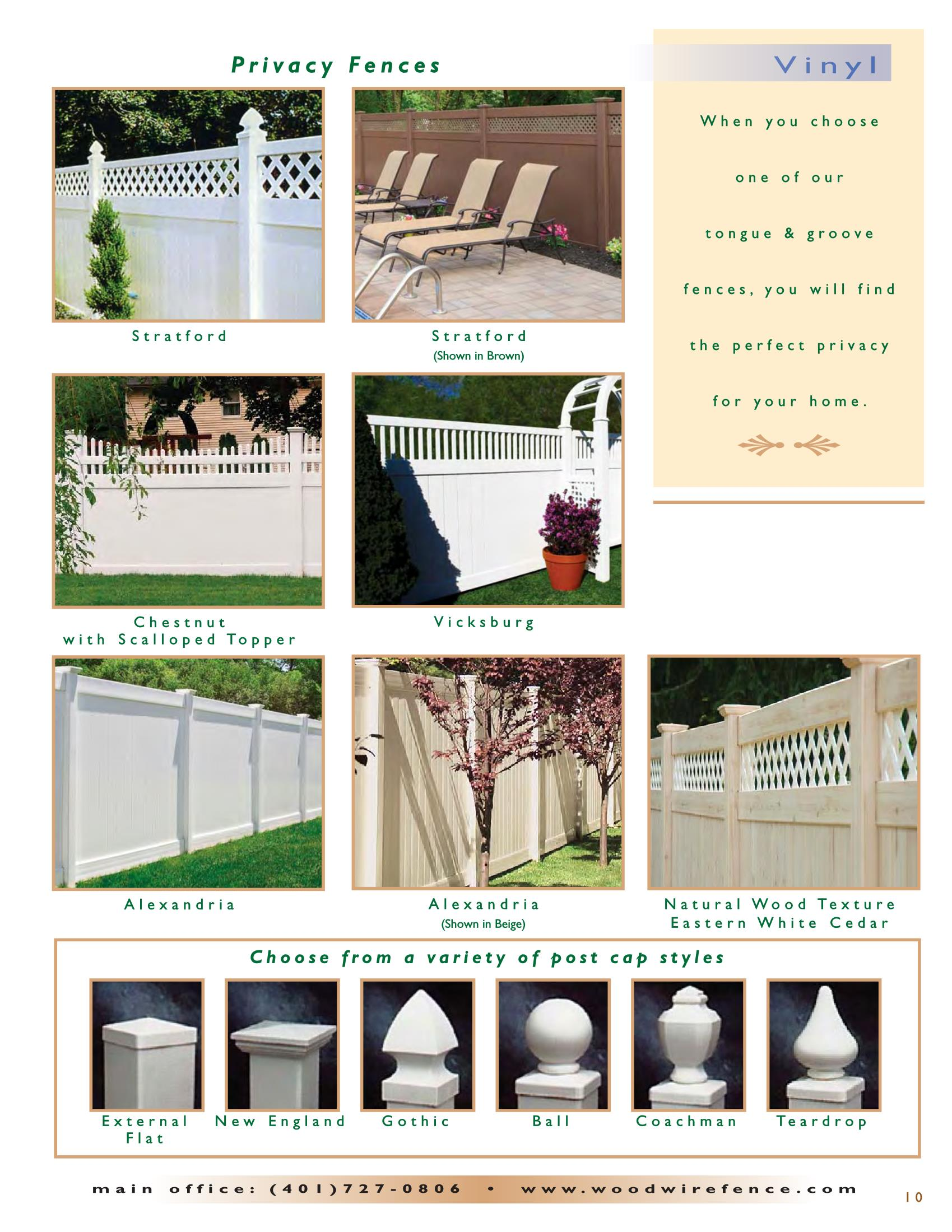 Ww Catalog 2016 Page 11 Ri Fences Wood And Wire Fence