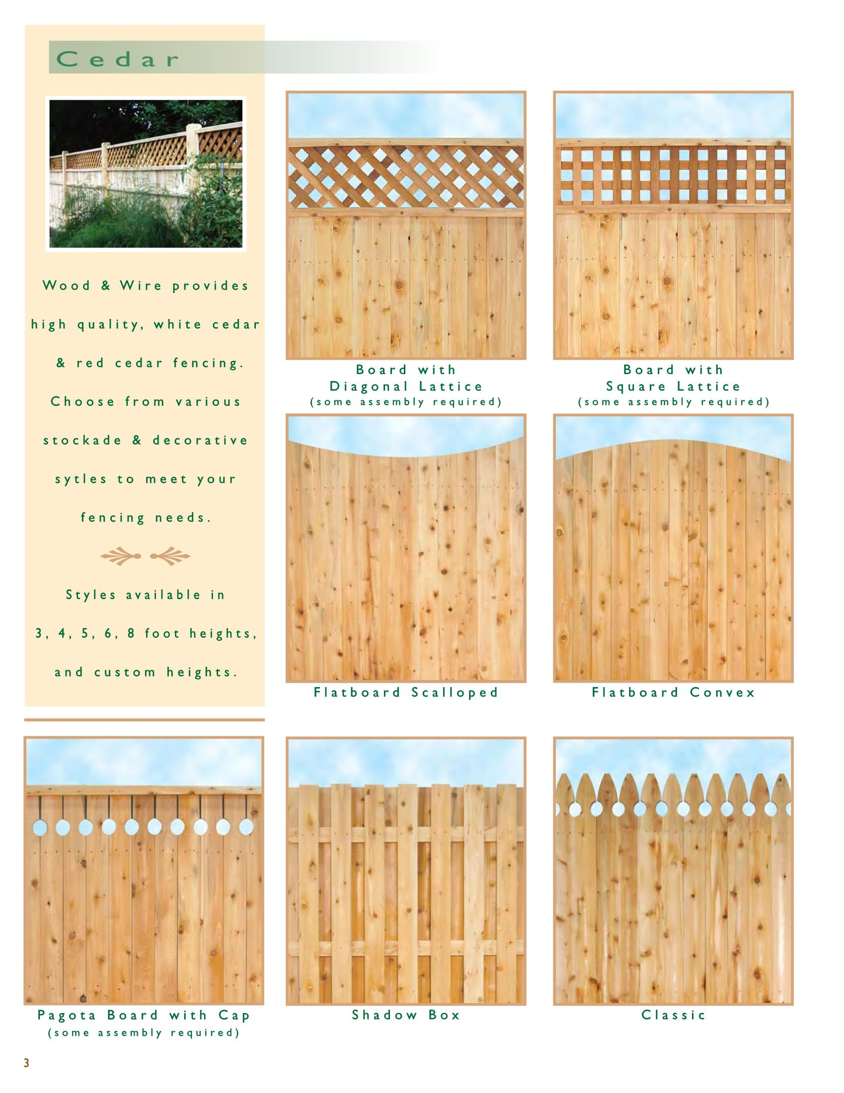 Ri Wood Cedar Privacy Wood And Wire Fence Co Inc Rhode