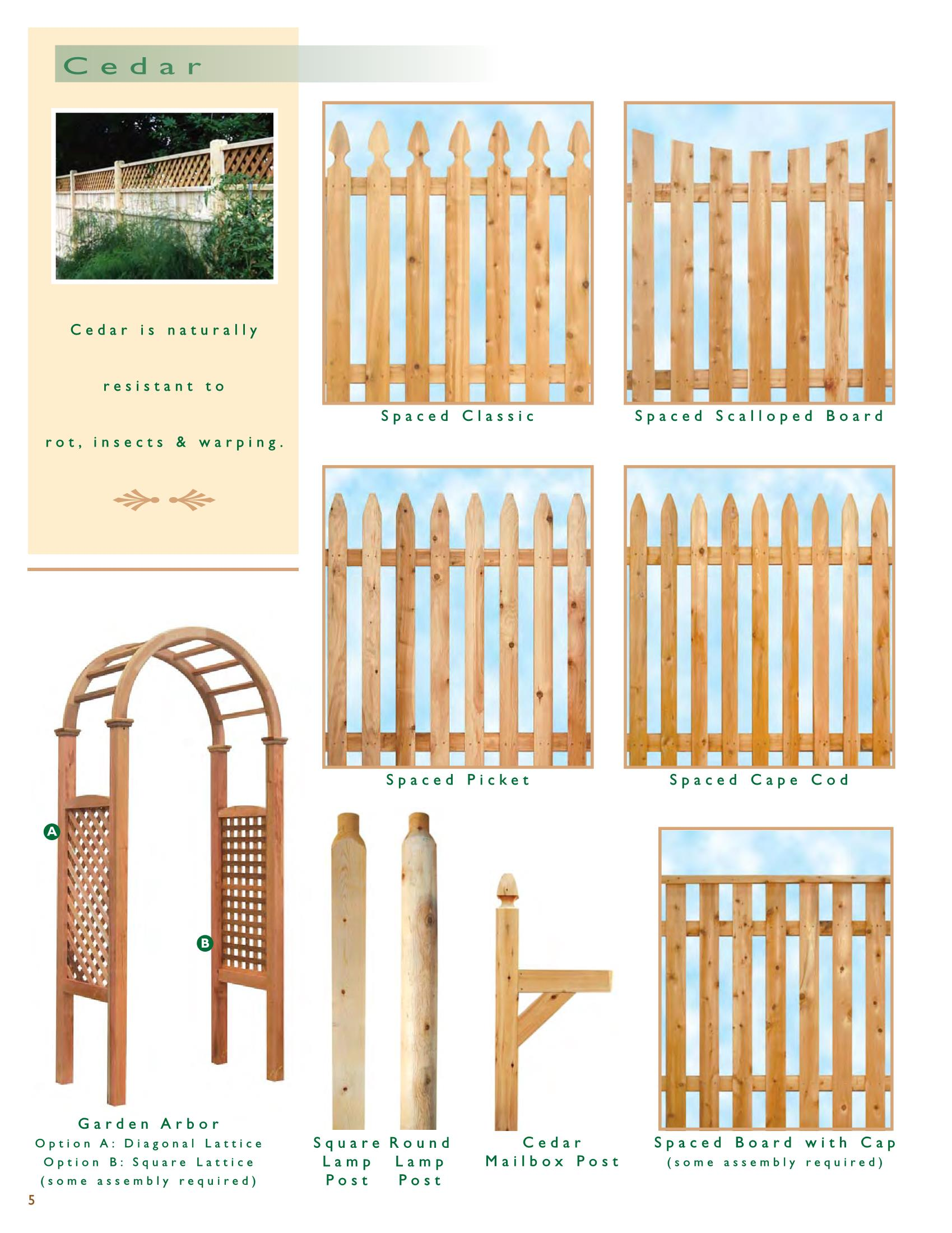 RI Wood Cedar Picket | Wood and Wire Fence Co. Inc. Rhode Island