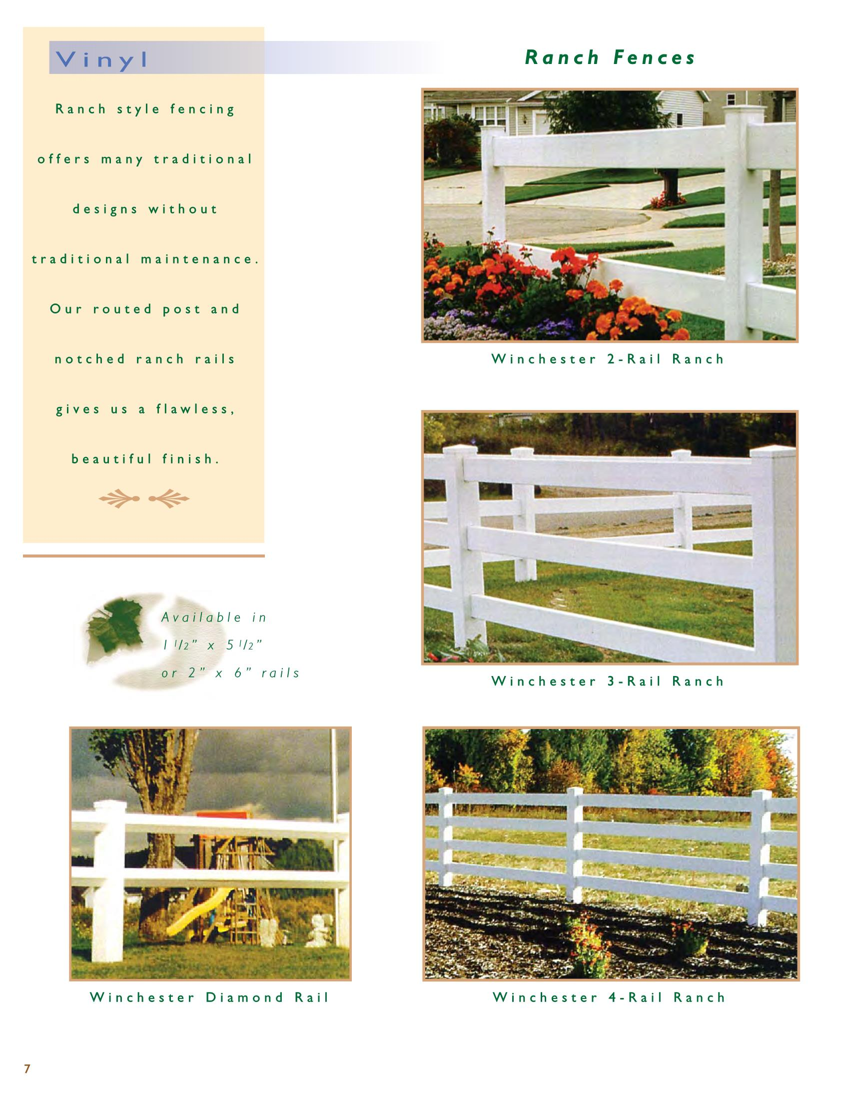 Ri Vinyl Ranch Fence Wood And Wire Fence Co Inc Rhode